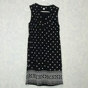 NWT Old Navy split neck printed panel dress Small